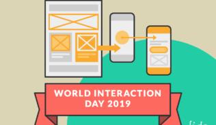 Un wireframe y su conexión con dos celulares, representan el World Interaction Day 2019: confianza y responsabilidad.