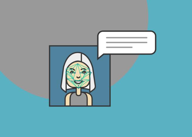 Una mujer con el pelo blanco te saluda desde la pantalla.