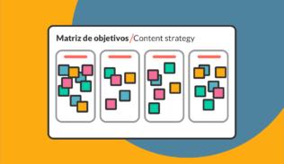 Matriz de formulación de objetivos estratégicos para contenidos en Blog IDA.