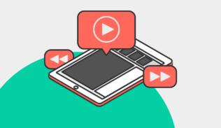 Una tablet indica la visualización de videos en el artículo de videos instructivos de Blog IDA.