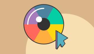 Un ojo de diversos colores representa la importancia del color y contraste en las plataformas digitales. Blog IDA.
