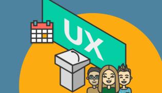 Personas muestran los eventos UX del calendario 2020.