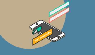 En un smartphone se observan las diferentes micro-interacciones de una interfaz.
