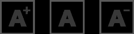 Tamaños de letra A para la web.