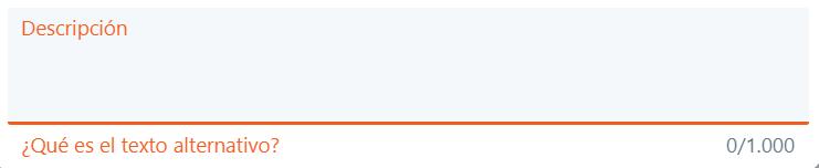 Cuadro de Twitter en donde se escribe el texto alternativo