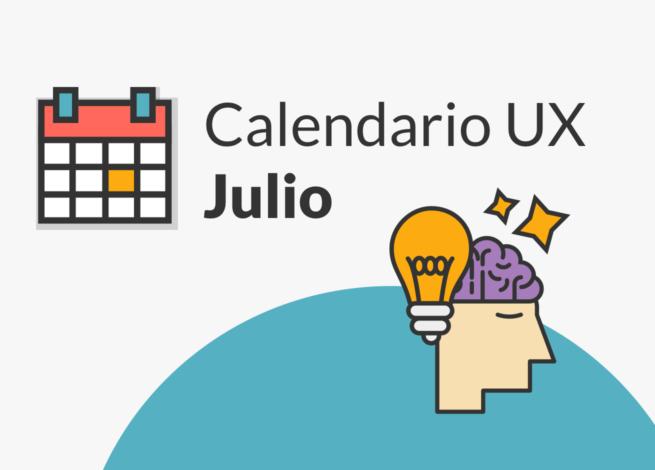 Un cerebro muestra el Calendario UX de Julio por Blog IDA.