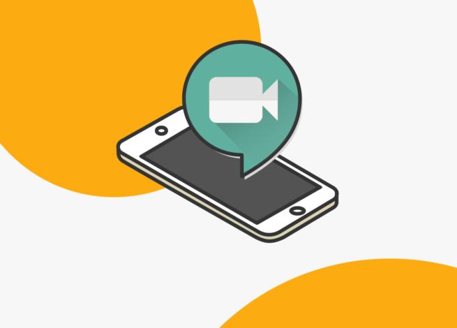 Google Meet para Gmail y Google Calendar representado en un celular con ícono de video. Blog IDA.