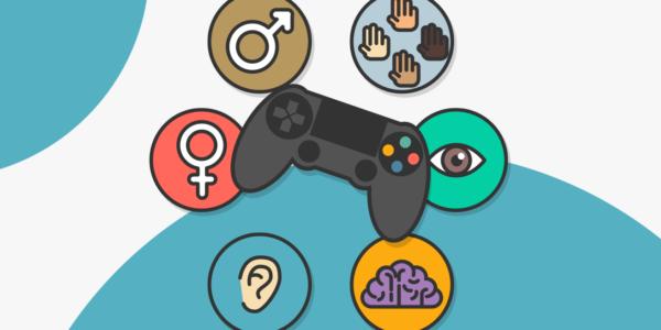 Un joystic y símbolos de accesibilidad representan las características de The Las of Us Part II.