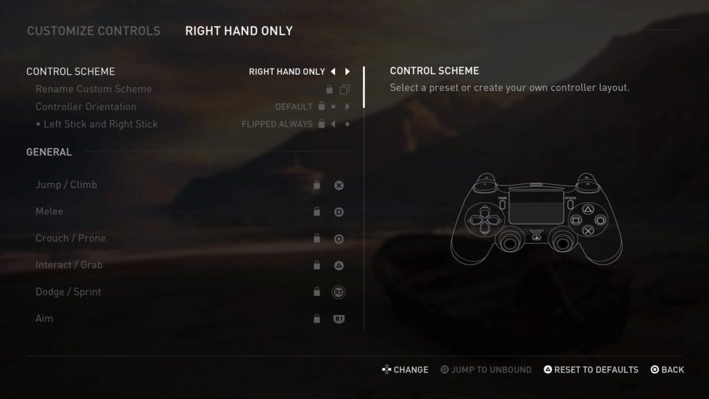 Control de los botones en The Las of Us Part II.