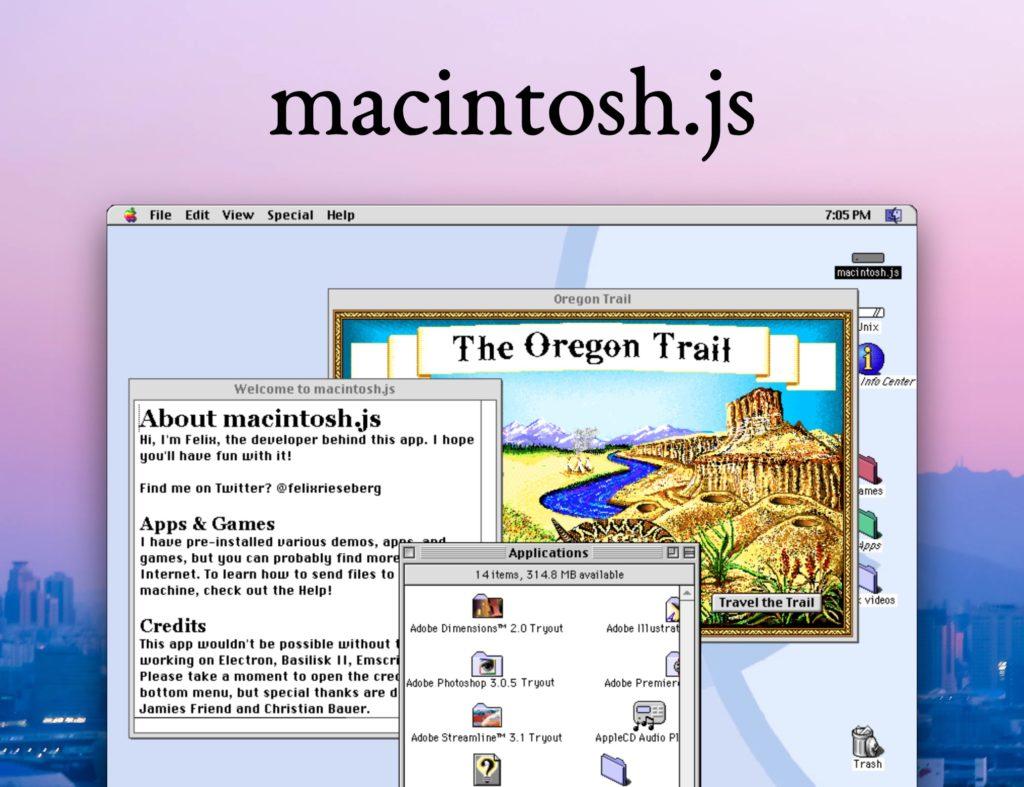 Interfaz del emulador de Mac OS 8