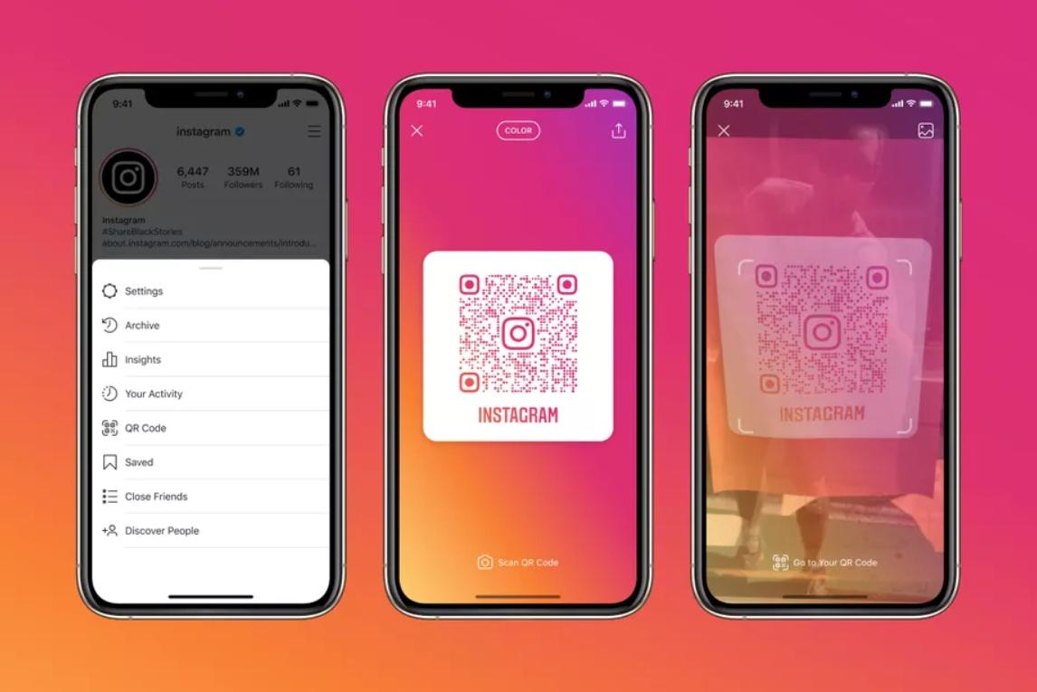 La nueva funcionalidad que incluye códigos QR de Instagram.