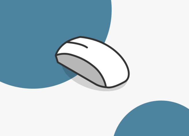 Un mouse representa las Heurísticas de Nielsen sobre libertad y consistencia para el usuario.
