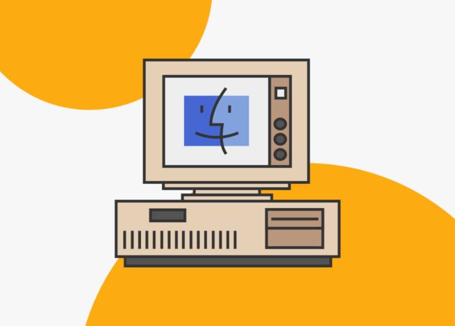 PC de los 90's con el sistema operativo Mac OS 8