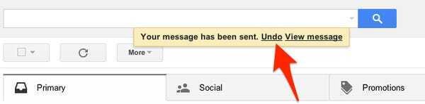 Opción de Deshacer o Undo en Gmail