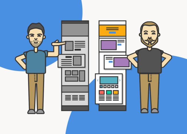 Maximiliano Martin y Rodrigo Vera nos enseñan un wireframe vital en la arquitectura de la información y posteriormente su diseño en web.