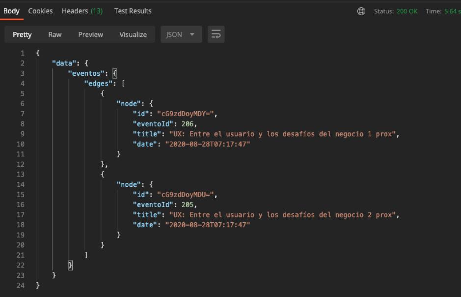 Ejemplo 2 del uso de API GralphQL en código por Blog IDA.