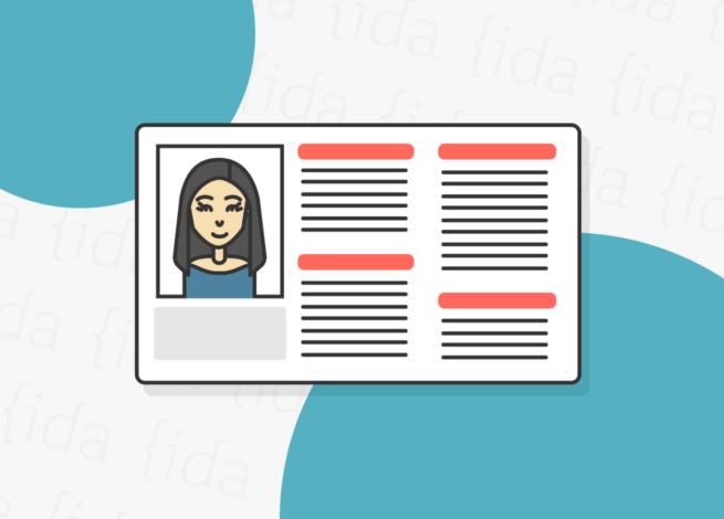 Una ficha de usuario o persona, nos presenta las proto personas en Experiencia de Usuario (UX) del Blog IDA.