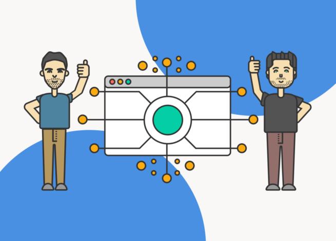 Maximiliano Martin y Max Villegas, presentan el ida workshop sobre Web APIs con una gráfica de fondo azul.