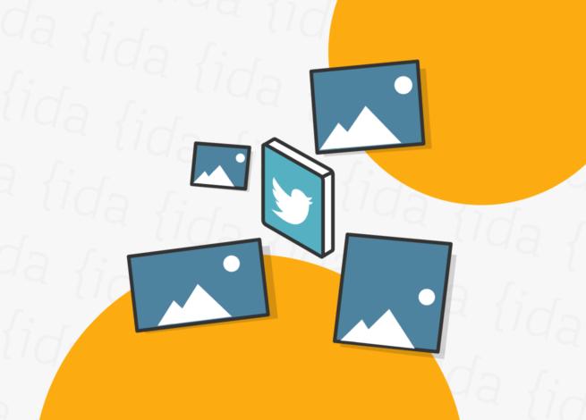 logo Twitter con imágenes a su alrededor.