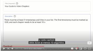 Consejos para utilizar capítulos en Youtube