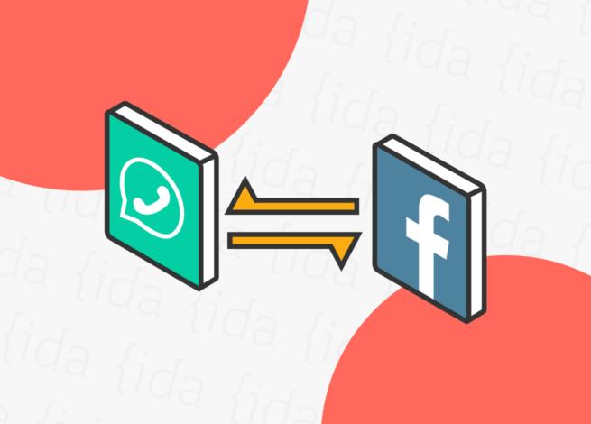 Cruce de datos entre WhatsApp y Facebook.