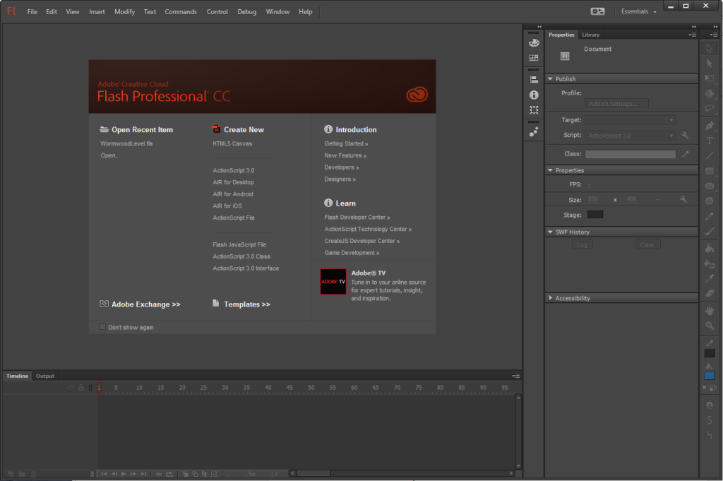 Flash Profesional CC.