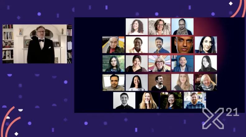 Captura de presentación de los Interaction Awards.