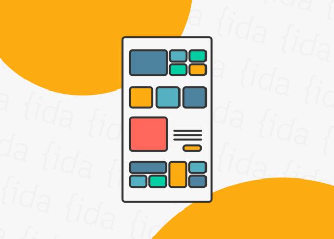 Interfaz de usuario que hace referencia a las grillas en el diseño de interfaces.
