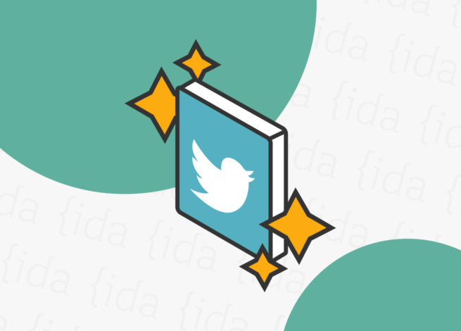 Logo de Twitter con brillos a su alrededor