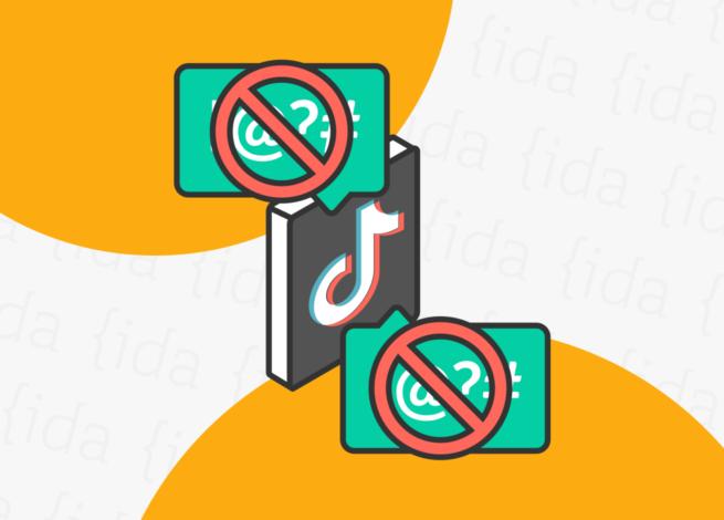 Logo de TikTok con contenido bloqueado.