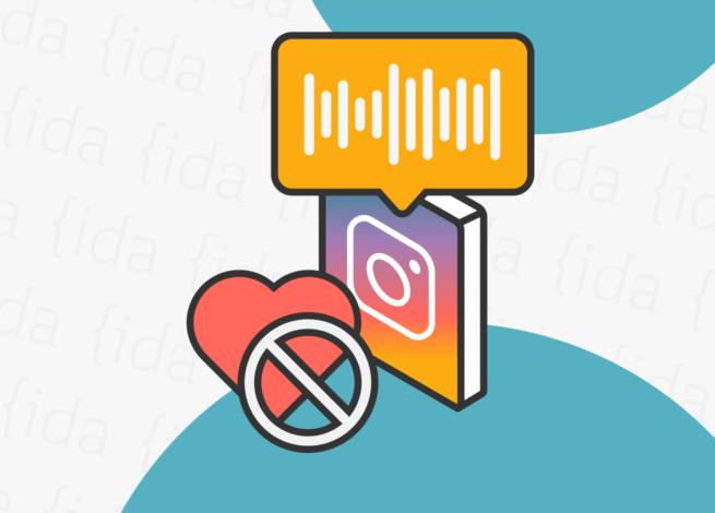 Logo de Instagram con un corazón que hace referencia a los likes y el formato de audio.