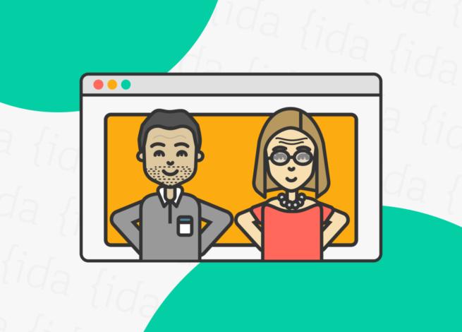 Referencia a una página web con personas en su interior.