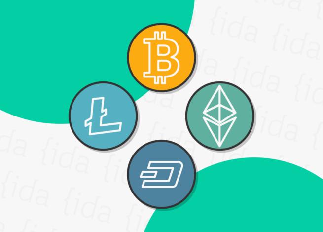 íconos de diversas criptomonedas