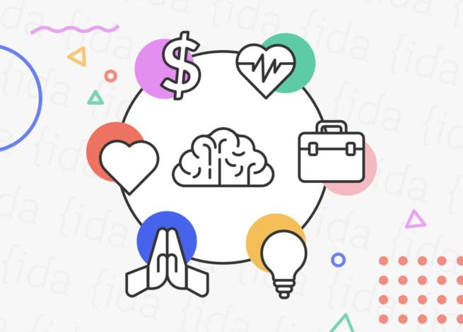 ícono de un cerebro con figuras a su alrededor que demuestra los cambios en los hábitos de nuestra vida.