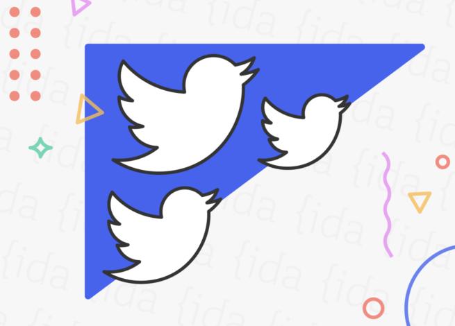 ícono de Twitter repetido en 3 ocasiones, que hace referencia a su política de uso.