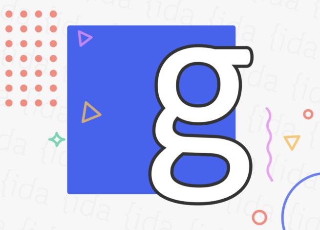 """Una letra """"g"""" con la tipografía calibri"""