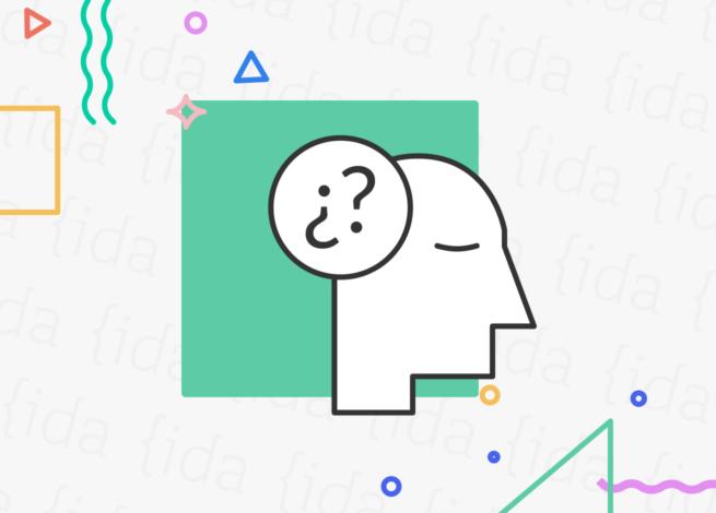 ícono de una cabeza con signos de interrogación en su cabeza.