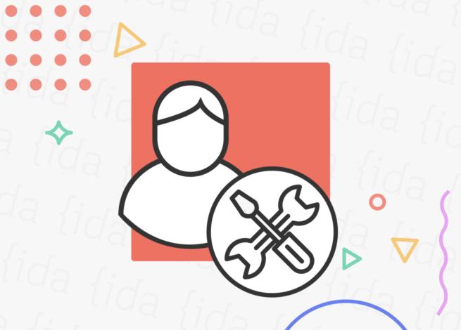 Icono de persona junto a dos herramientas que hacen referencia al diseño de servicios.