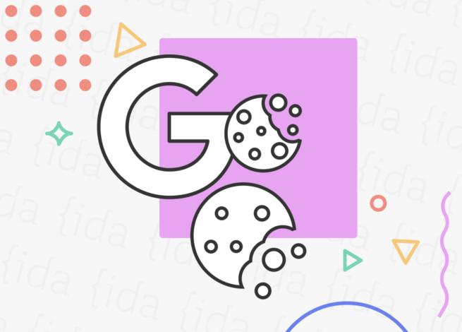 Logo de Google y con dos cookies a su costado.