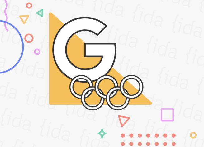 Logo de Google y los Juegos Olímpicos.