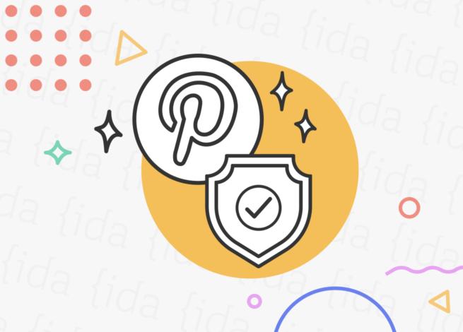 Logo de Pinterest con una medalla que hace referencia a su certificación.