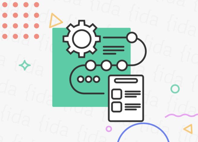 Iconografía que hace referencia a las metodologías y herramientas usadas en una investigación de usuarios.