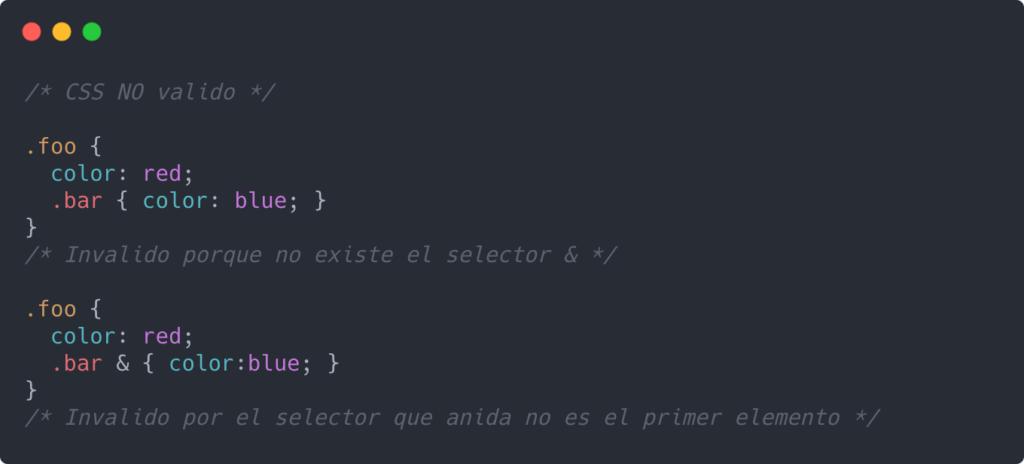 CSS No valido