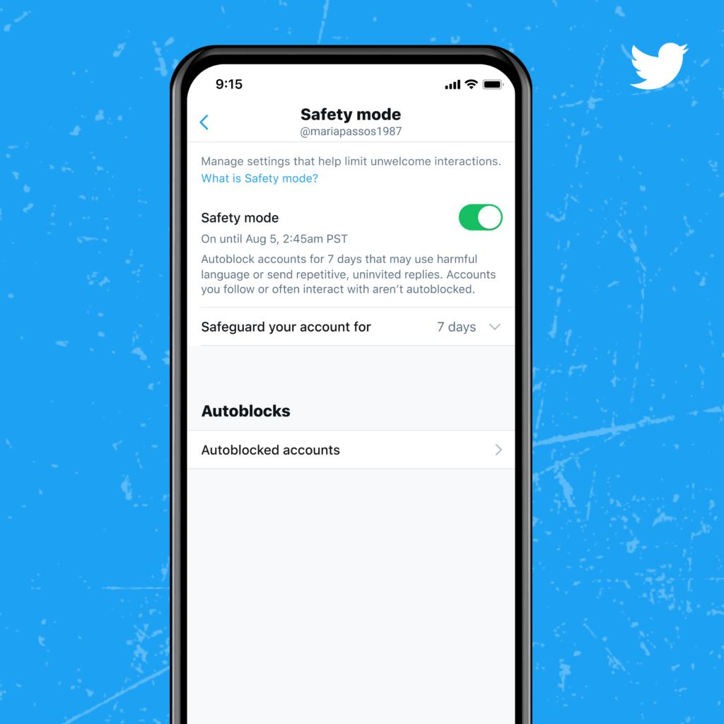Safety Mode de Twitter.